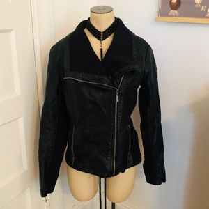 Mossimo faux leather jacket! Great condition, Sz M